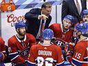 Interim head coach Kirk Muller of the Montreal Canadiens speaks to his team during a timeout against the Philadelphia Flyers during the third period in Game 3 of the Eastern Conference series at Scotiabank Arena on August 16, 2020, in Toronto.