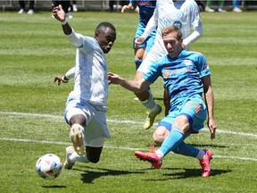 Chicago Fire forward Robert Beric fires the ball past CF Montréal midfielder Victor Wanyama last month at Soldier Field. CF Montréal won the game 1-0.