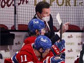 """""""Whether I'm coaching or whatever I'm doing, I like to just keep in a calm mode so I can react properly to whether it's something negative or positive,"""" Canadiens assistant coach Luke Richardson says."""