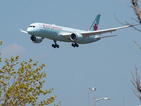 Air Canada Boeing 787 Dreamliner touches down at Toronto Pearson International Airport on Friday, April 23.