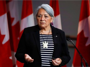 """Mary Simon attends a news conference where she is announced as the next Governor General of Canada in Gatineau, Quebec, Canada July 6, 2021. """"Appointing a well-qualified Inuk woman as our next governor general was the right move,"""" Fariha Naqvi-Mohamed writes."""