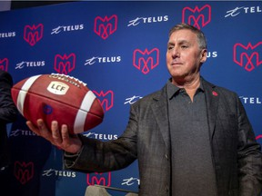 Gary Stern, co-owner of the Montreal Alouettes, with partner Sid Spiegel, in Montreal on Jan. 6, 2020.
