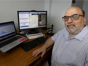 """Ahuntsic-Cartierville entrepreneur Bill Mavridis plans to launch a pilot project for a citizen-based observatory for plane noise. """"We will be able to record sound, tie it to the offending aircraft and put it on a live sound map for all to see,"""" he said."""