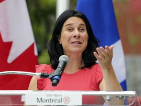 """""""Our goal is clear: it's to make Montreal free of pesticides,"""" Mayor Valérie Plante said on Thursday."""