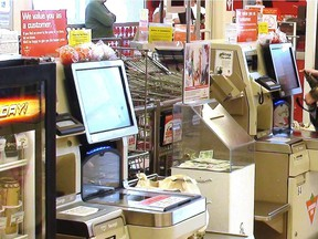 As self-service cashes spread, armies of cashiers will soon be saying goodbye to their jobs. But it's not automated computers stealing their work — it's us customers, becoming cashiers, Josh Freed writes.