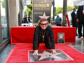 Don McLean is seen with his star on the Hollywood Walk of Fame on Aug. 16, 2021.
