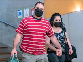 """Guy Dion — seen with wife Marie-Josée Viau in May — conceded that allowing his garage to be used to store firearms for Mafia leader Salvatore Scoppa was """"not the best idea I have ever had."""""""
