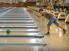 François Lapointe had the Quilles G Plus Rose Bowl lanes all to himself  on Wednesday. The manager of the bowling alley says business is down 40 to 50 per cent because of the vaccine passport.