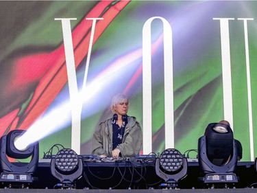 Le Youth performs his set at the Île Soniq Redux electronic music festival at Parc Jean-Drapeau in Montreal on Friday, Sept. 24, 2021.