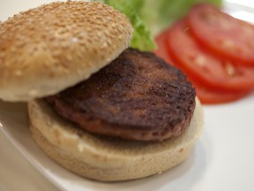 A burger made from cultured beef.