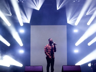 DVSN on stage at Osheaga at Parc Jean-Drapeau in Montreal on Friday, Oct. 1, 2021.