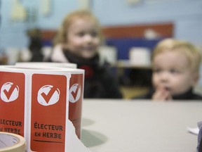 During the 2017 election, some polling stations had Voter in Training stations for children.