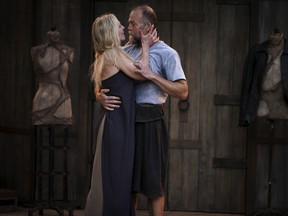 Philippa Domville and Hugh Thompson in Macbeth. She is excellent, and he, well, ah, the scenery is lovely.