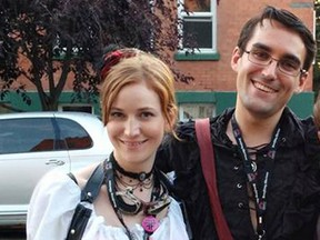 Shannon Madill and Joshua Burgess at the Calgary Fringe Festival in August 2014.