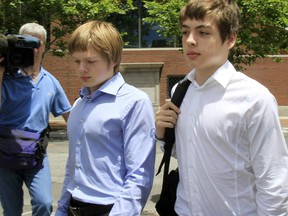 Timothy Vavilov, left, and brother Alexander pictured in 2010. Their parents are spies who came to Canada in the 1990s and took over the identities of dead Canadians.