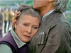Princess Leia and Han Solo return and embrace, melting the hearts of fans everywhere.