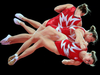Canada's Rosie MacLennan performs her trampoline routine at the 2012 Olympic Games in London.