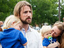 David and Collet Stephan after arriving at the courthouse in Lethbridge, Alberta, with their children on Friday, June 24, 2016.