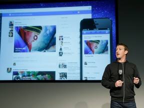 Facebook CEO Mark Zuckerberg speaks about News Feed at Facebook headquarters