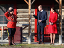 Catherine, Duchess of Cambridge and Prince William, Duke of Cambridge leave McBride Museum on Sept. 28, 2016 in Whitehorse, Yukon.
