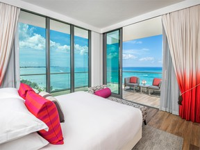 The new Kimpton Seafire Resort & Spa features floor to ceilings views of the beach.