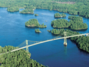 Part of the St. Lawrence River at the Thousand Islands archipelago where the attempted human smuggling incident took place.
