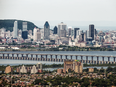 Brossard in the foreground with part of Montreal's skyline on the other side of the Champlain Bridge.
