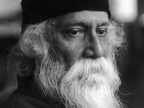 """Indian poet and writer Rabindranath Tagore is shown while in Berlin, Germany. In 1913, Tagore became the first non-European to win the Nobel Prize in Literature for what the Swedish Academy described as """"his profoundly sensitive, fresh and beautiful verse."""" Tagore played a pivotal role in popularizing Indian culture in the West through such works as """"Gitanjali: Song Offerings."""""""