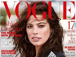 The January British Vogue cover girl is body activist and model Ashley Graham