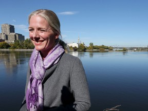 Environment Minister Catherine McKenna at the Ottawa River on Oct. 11, 2016.
