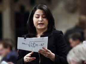 Maryam Monsef in the House of Commons during question period on Parliament Hill, in Ottawa, Thursday, Dec. 1, 2016