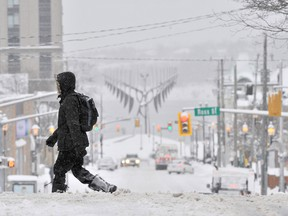 A scene in Barrie, Ont., on Thursday after it was hit with 30 centimetres of snow.