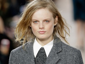 Hanne Gaby Odiele walks the runway at the Michael Kors fashion show during Mercedes-Benz Fashion Week Fall at Spring Studios in New York City last February. She has just come out as intersex.