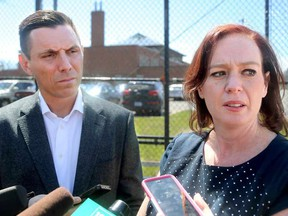 Leader of Ontario's Official Opposition, Patrick Brown, and Nepean-Carleton MPP Lisa MacLeod