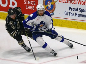 Marlies defenceman Rinat Valiev from Game 3 of the 2016 AHL Eastern Conference against Hershey.