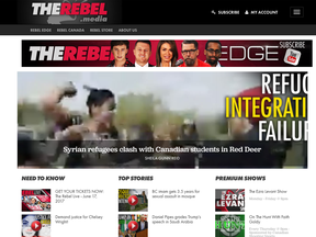 """The inflammatory, pull-no-punches style of Rebel Media has led to accusations that it is a """"hate site"""" that promotes """"xenophobic propaganda."""""""