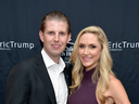 Eric Trump and his wife Lara at the Eric Trump Foundation Golf Invitational event in 2015 in Briarcliff Manor, New York.