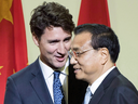 Prime Minister Justin Trudeau with Chinese Premier Li Keqiang at a business luncheon in September 2016 in Montreal.