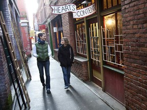 Fan Tan Alley is a very narrow lane - one to two metres wide and 75 metres long - that runs between Fisgard Street and Pandora Avenue.