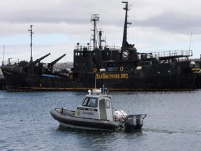 The Farley Mowat in 2008, just as it began its nine year slide into rusty deterioration.