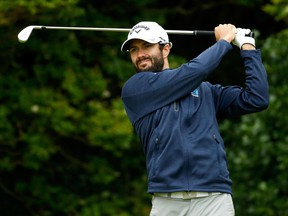 Adam Hadwin tees off at the British Open on July 20.