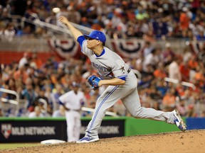 Roberto Osuna pitches in the MLB all-star game on July 11.