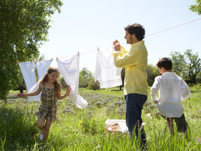 Using that clothesline isn't enough to make any difference in reducing climate change.