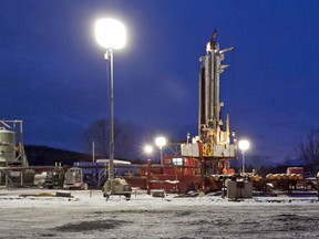 A natural gas drilling site in the Susquehanna County township of New Milford, Pa. Natural gas producers drilled more than twice as many shale wells in the first half of 2017 compared to the same period last year.