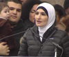 Linda Sarsour speaks at the Women's March on Washington in January.