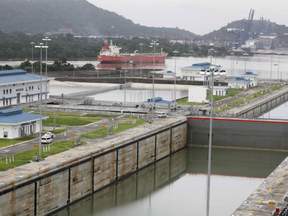 A section of the Panama Canal.