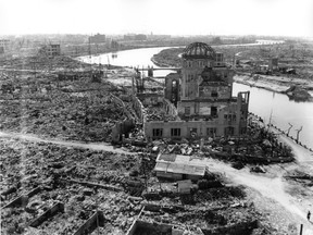 Hiroshima, three months after the atomic bomb was dropped.