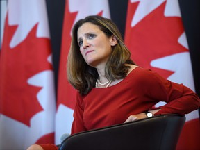 Foreign Affairs Minister Chrystia Freeland discusses modernizing NAFTA at public forum at the University of Ottawa in Ottawa on Monday, Aug. 14, 2017.