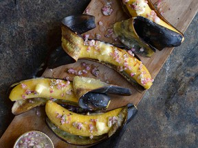 Steamed Plantains with Sauce Chien