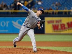 Toronto Blue Jays pitcher Tom Koehler delivers against the Tampa Bay Rays on Aug. 24.